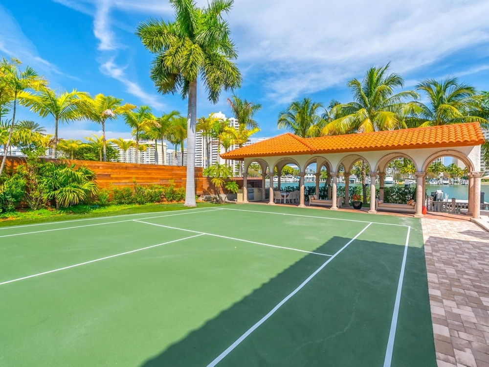 6 Miami Homes with Beautiful, Private Tennis Courts