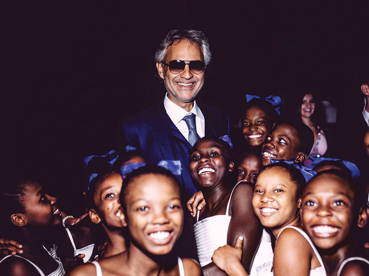 Andrea Bocelli Shares the Importance of The Voices of Haiti Children's Choir