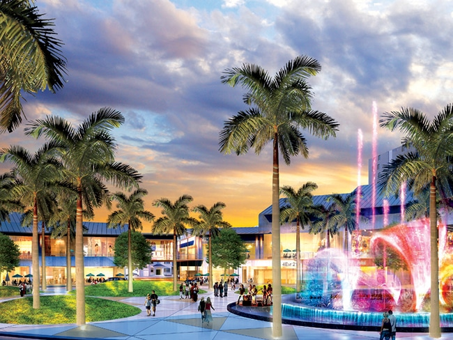 Oval Fountain will feature music displays to delight patrons at 30-plus bars and restaurants.