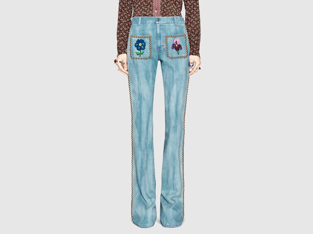 Embroidered jeans to wear this spring