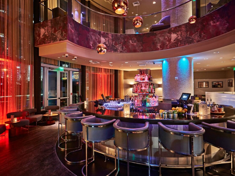 These are the most beautiful hotel bars in miami Living room bar w hotel miami
