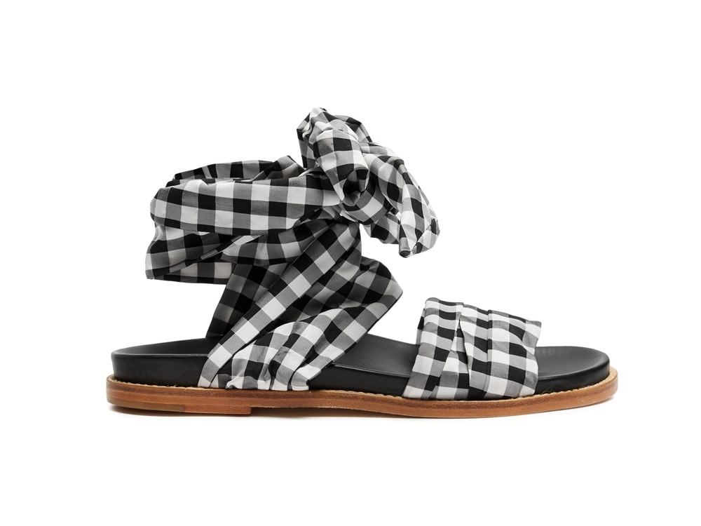 Marques-Almeida-Wraparound-Gingham-sandals.
