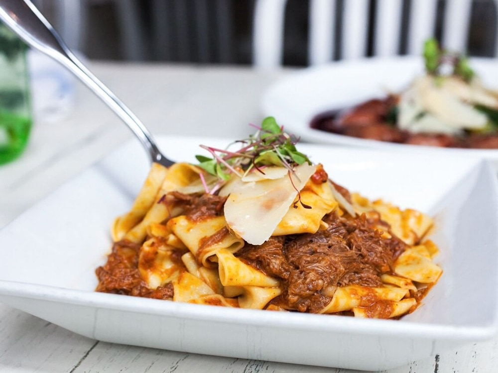 Pappardelle with Braised Short Rib Ragu at Icebox Cafe