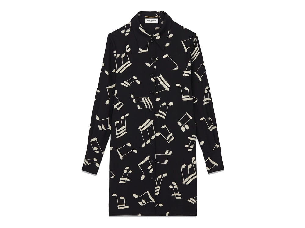 Saint-Laurent-Musical-Note-Shirtdress