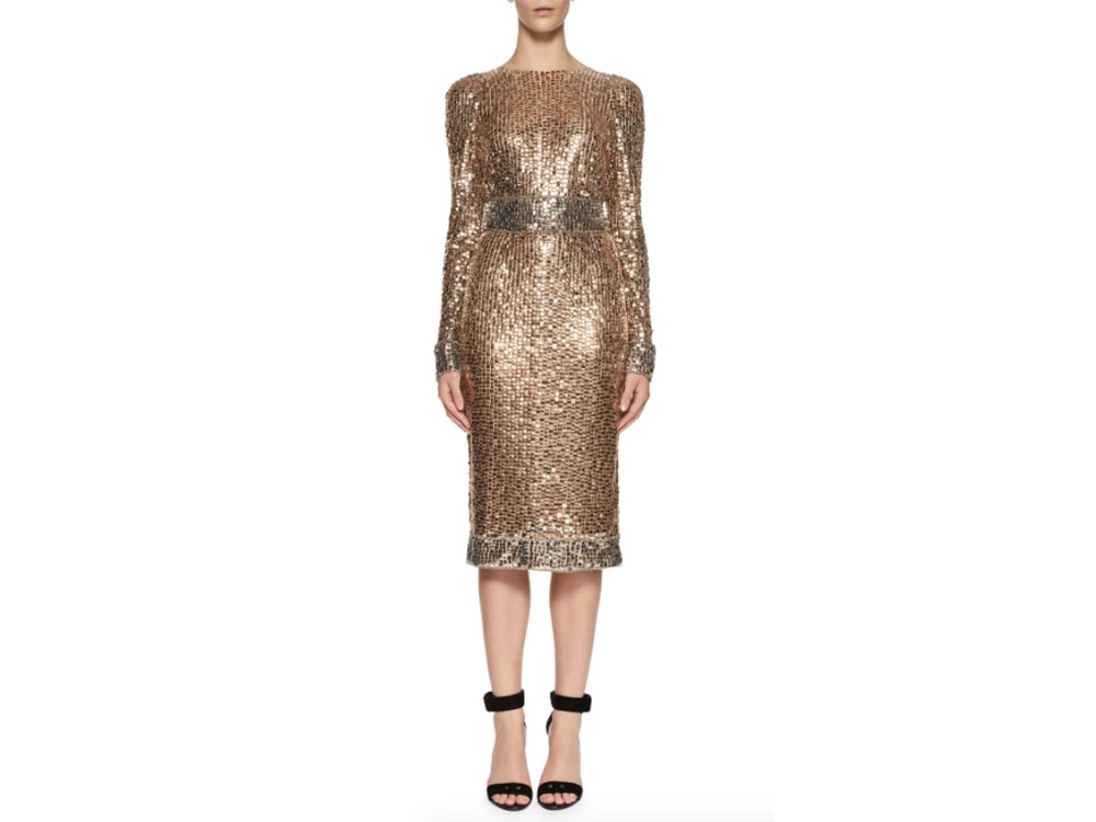 Tom-Ford-Metallic-Dress