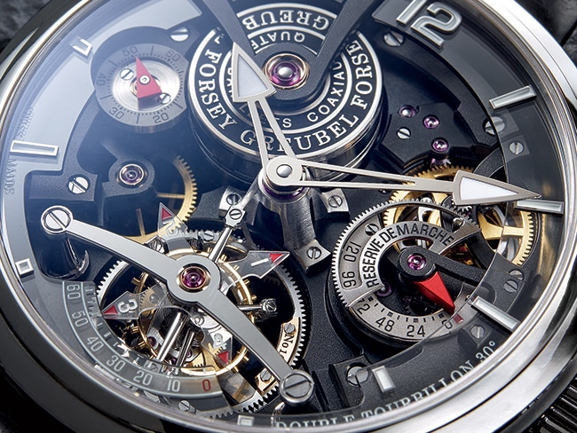 Greubel Forsey created this limited edition timepiece with two tourbillon escapements for meticulous accuracy.