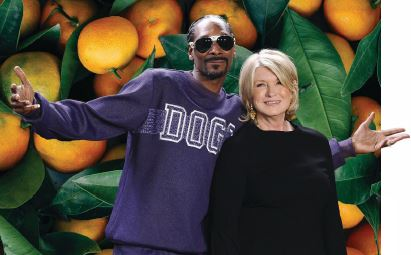 SNOOP DOGG AND MARTHA STEWART PHOTO BY JASON LAVERIS/FILMMAGIC/GETTYIMAGES; BACKGROUND PHOTO BY EROL AHMED/UNSPLASH