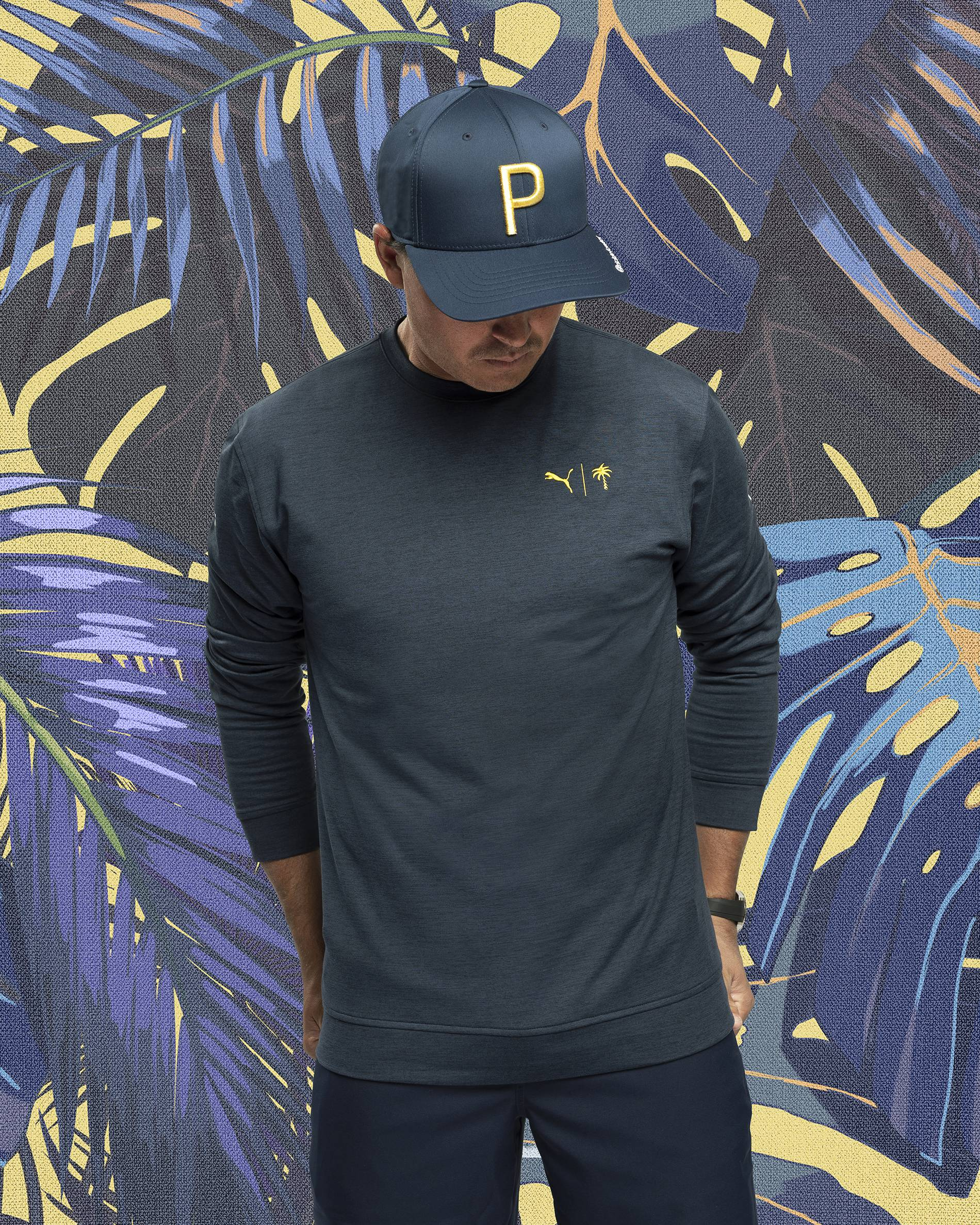 Rickie Fowler models the Puma x Palm Tree Crew collection