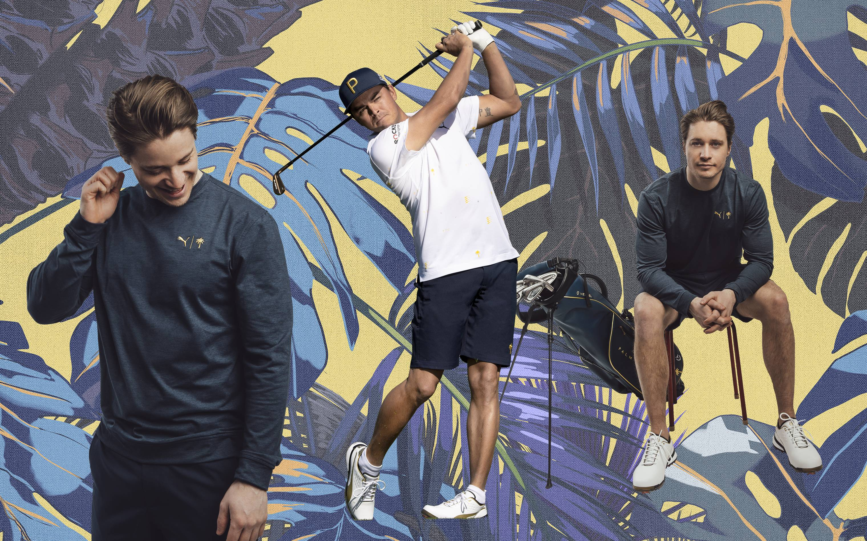 Kygo and Rickie Fowler model the Puma x Palm Tree Crew collection