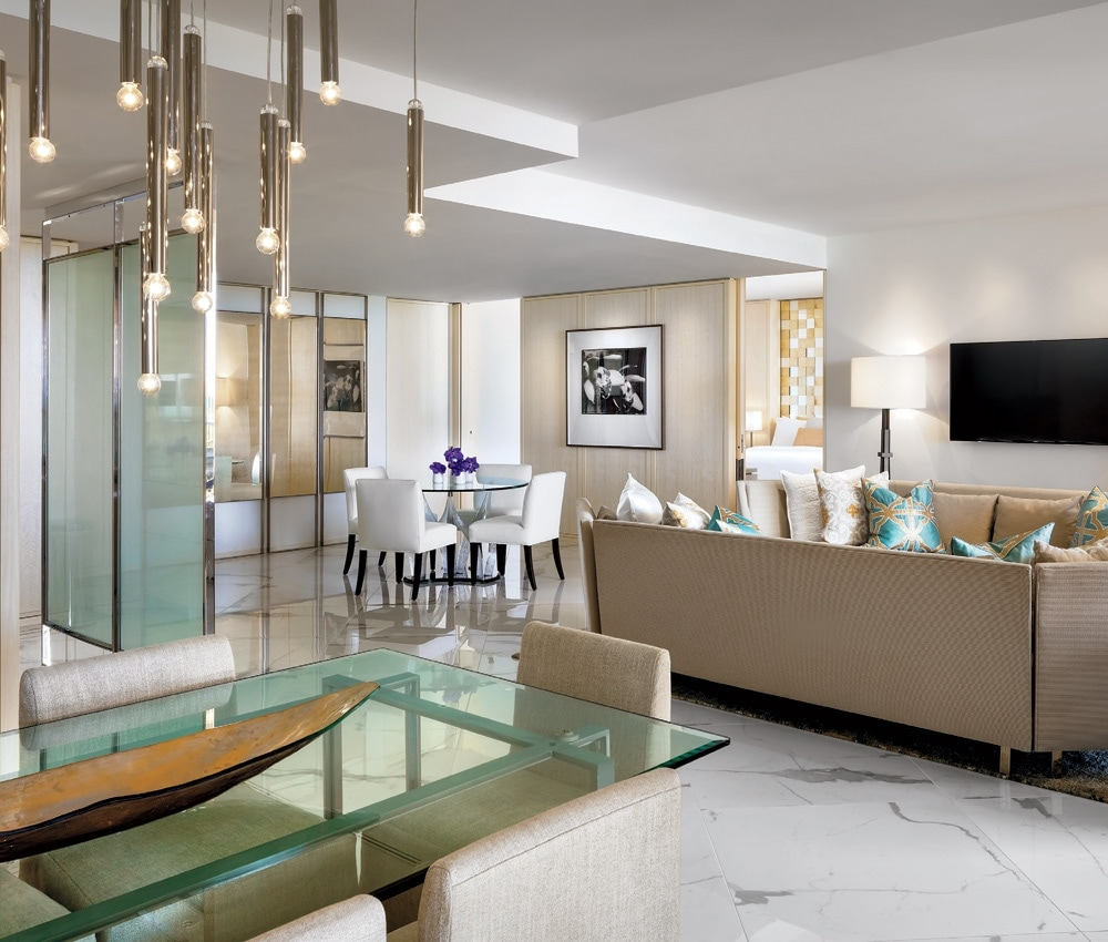 The new Signature Suites at the St. Regis Bal Harbour combine the  spaciousness of a private luxury home with the service and amenities of a  high-end resort.