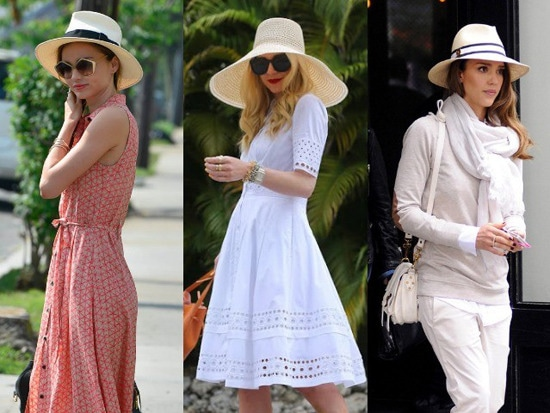 4 - Celebrity Style: How to Wear Straw Hats Th…