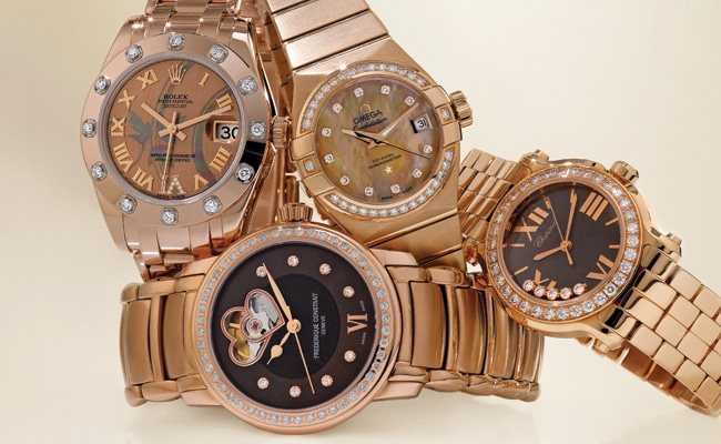 1 - Romantic Rose Gold Timekeepers