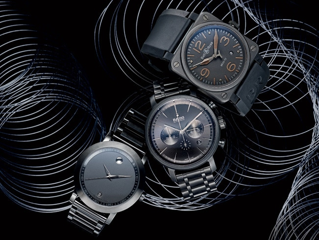 2 - Black Watches Get High-Tech Twists