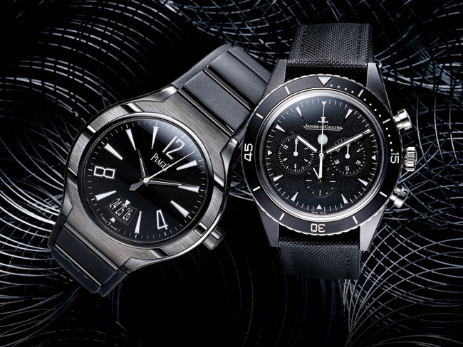 1 - Black Watches Get High-Tech Twists