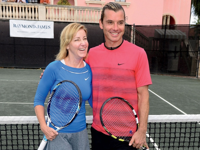 2 - Tennis Ace Chris Evert Gives Back